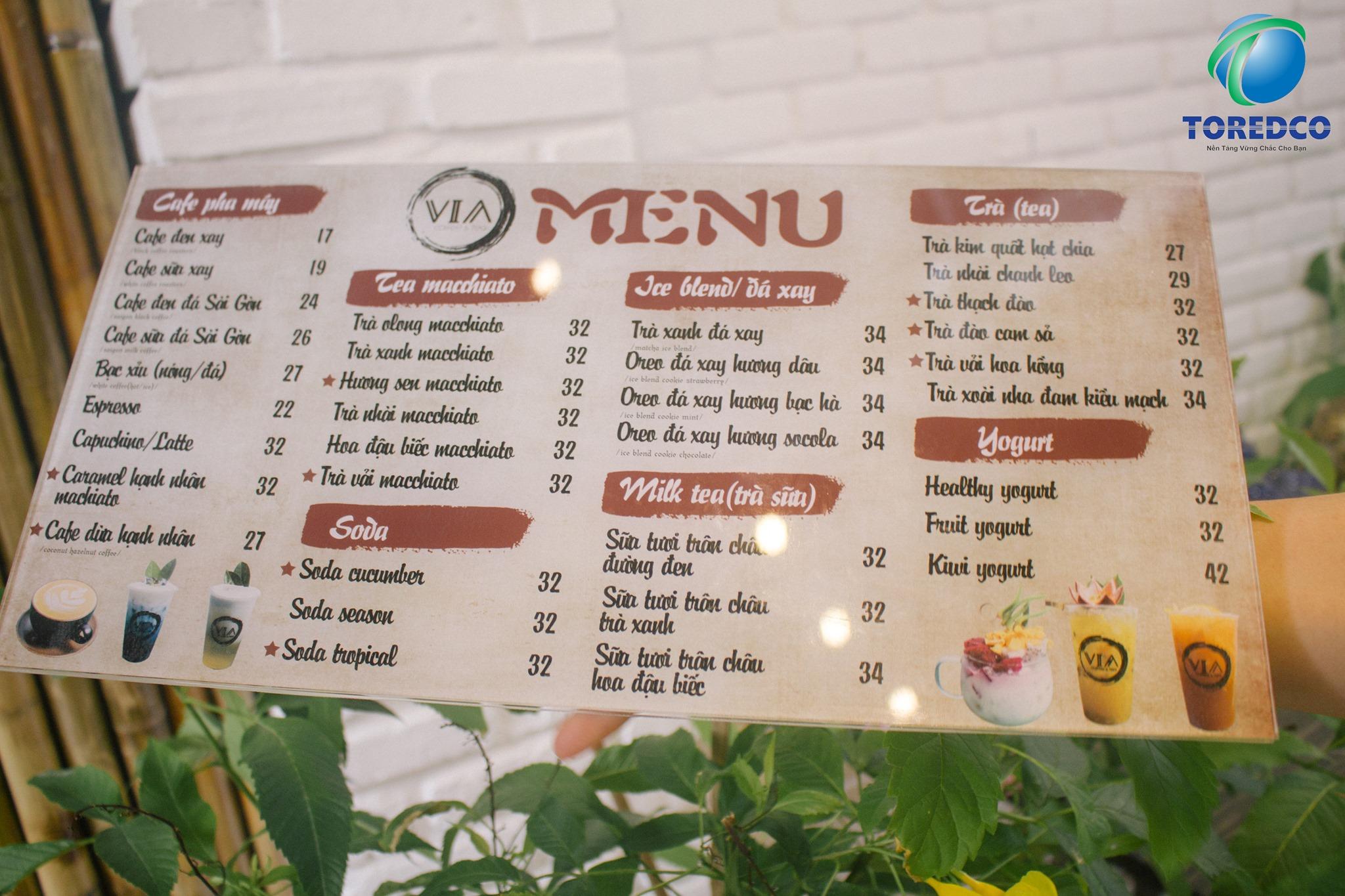 Thiết lập menu hấp dẫn và phù hợp
